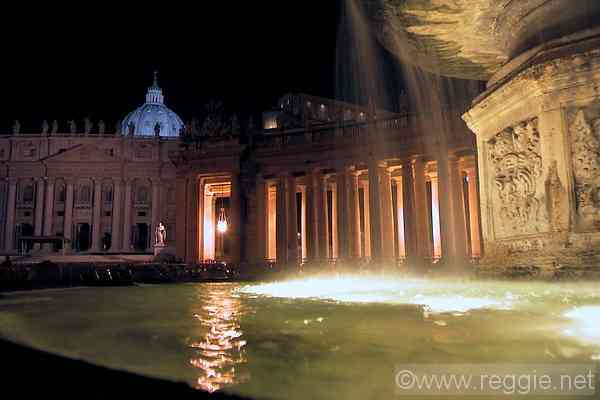 St. Peter\'s Basilica fountain, The Vatican, Rome, Italy, photo