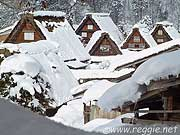 Thatched houses, Shirakawago, Gifu-ken, Japan, photo