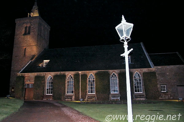 Crail Kirk by Night, Fife, Scotland, photo