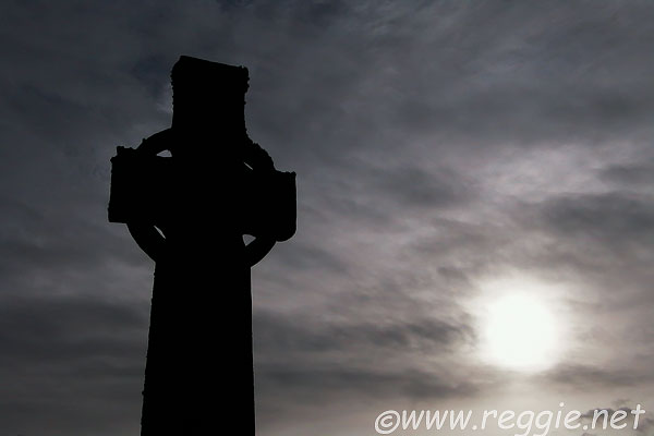 Celtic cross, Iona Abbey, Iona, Scotland, photo